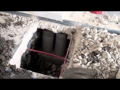 Interior foundation repair - pier installation through concrete Dallas, TX  | Plano, TX