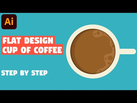 Cup of coffee in 5 EASY STEPS | Illustrator CC tutorial thumbnail