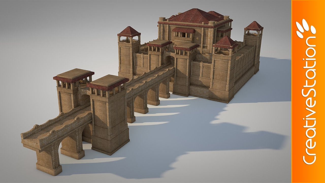 Small Castle 3d Modelling Cinema 4d Creativestation