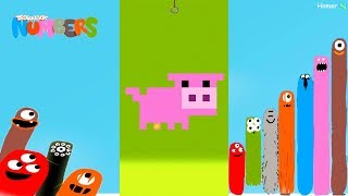 The Best Аnimals 3 Puzzles Begin- DragonBox: Numbers (iPad, iPhone, Android). Fun game for kids.