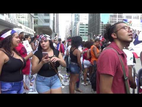 DOMINICAN DAY PARADE 2016 NEW YORK NYC HOT GIRLS  DANCING - DESFILE DOMINICANO DE NUEVA YORK 2016