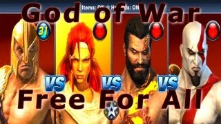 God of War: Ascension + PS All-Stars - Favor of The Gods Inspired Battle - 5 Stock - HD