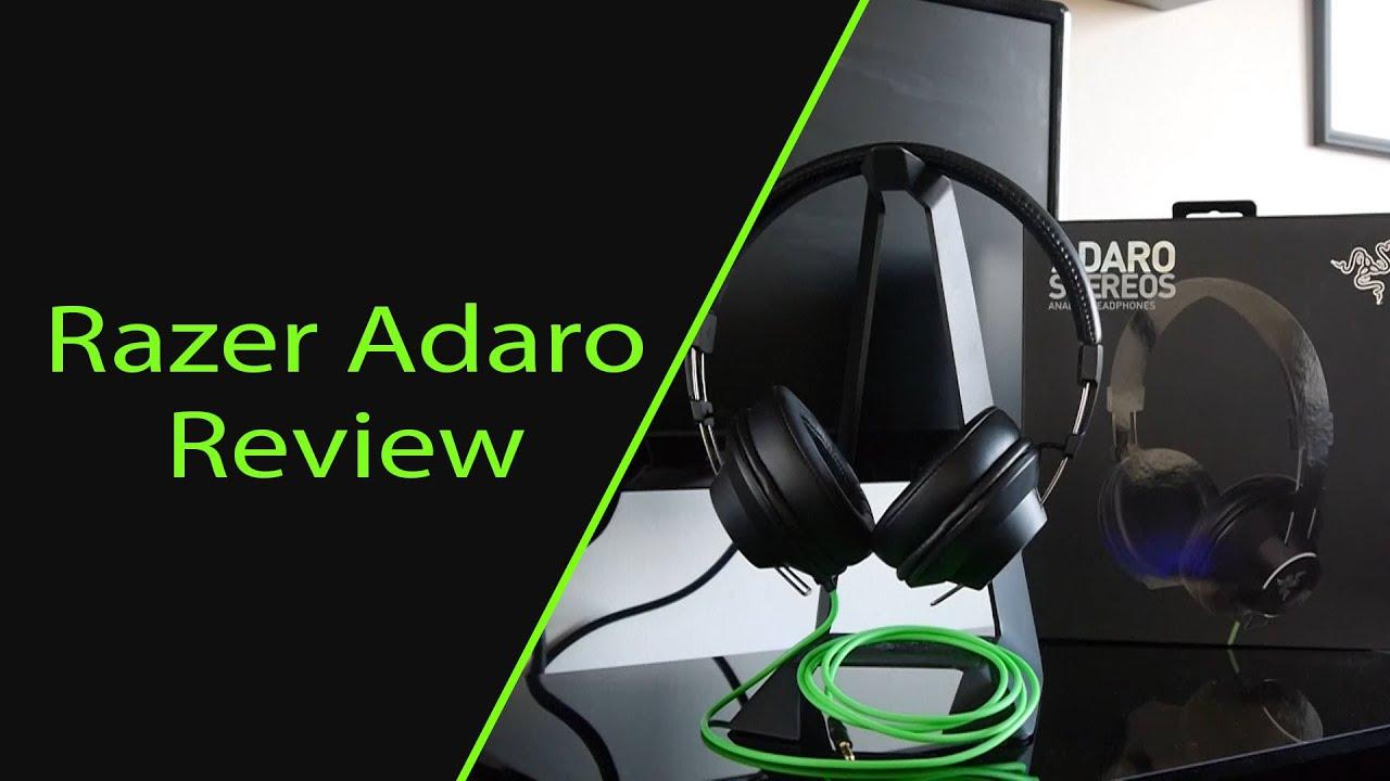 Razer Adaro Stereo Headphone Review - YouTube