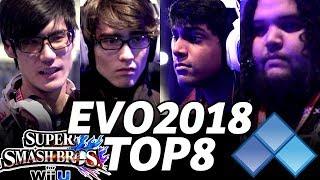 EVO 2018 SMASH Wii TOP8 (TIMESTAMP) Lima CaptainZack Nietono Mistake MVD MrE Choco Naito
