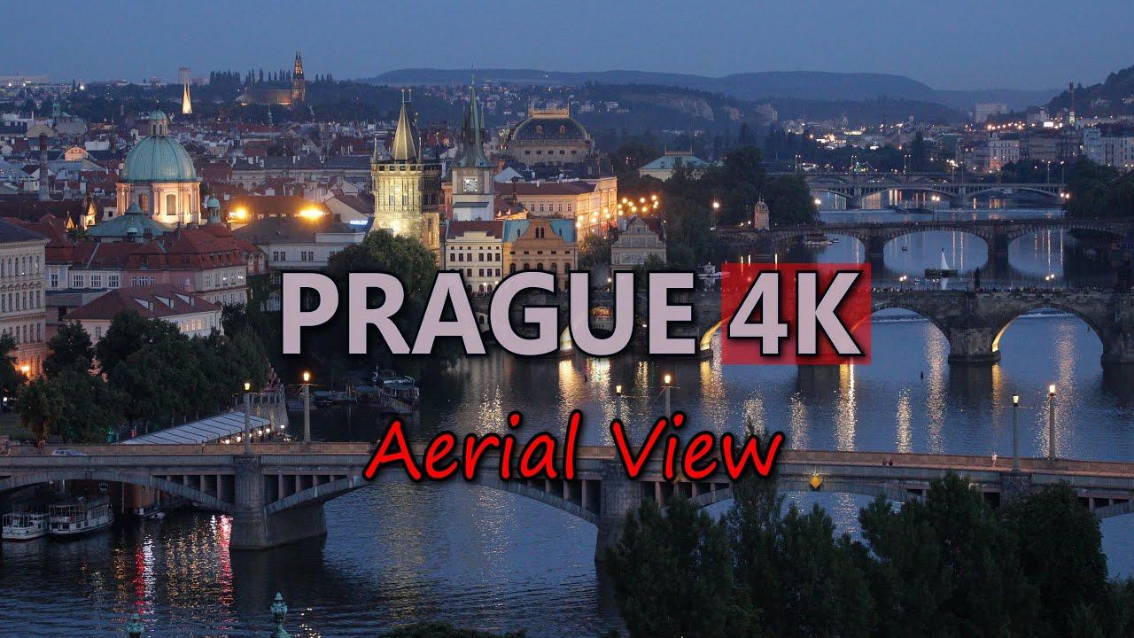 Ultra Hd 4K Prague Travel Czech Republic Tourism Aerial -6858