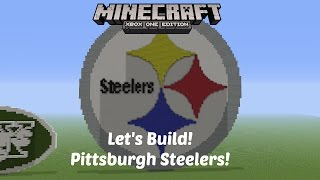 minecraft let s build nfl logos pittsburgh steelers xbox one hd