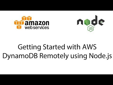 Getting Started with AWS DynamoDB Remotely using Node js - YouTube