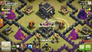 Clash of Clans I Using lightning spells without earthquake spells I TH9