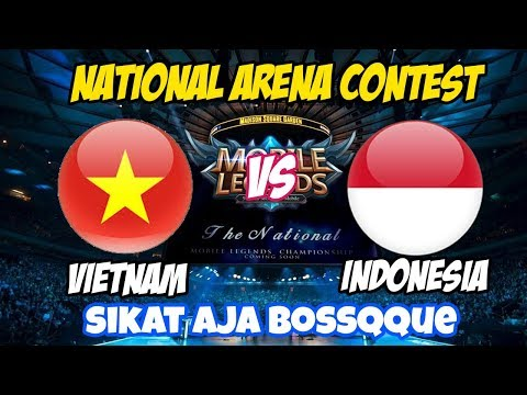 LIVE ARENA KONTES !! SIKAT AJA BOSSQUE - INDONESIA VS VIETNAM | Mobile Legends 11 April 2018