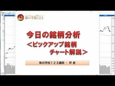 【株の学校123】(2018年5月25日)今日の銘柄分析<ピックアップ銘柄チャート解説> thumbnail