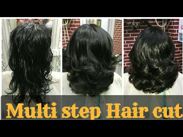 How To Step Hair Cut In Short Hairs 2019 Layer With Step Hair Cut Step By Step Avinashhaircare Youtube