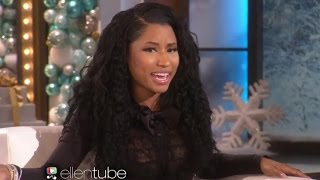 Nicki Minaj Imitates Kim Kardashian on ELLEN- Watch!