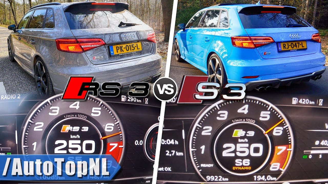 2019 Audi RS3 vs 2019 Audi S3 | 0-250km/h ACCELERATION ...