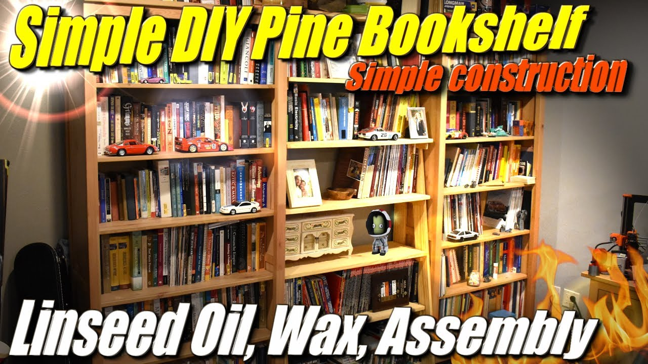 Simple DIY Bookshelf From Cheap Pine Part 3 Linseed Oil