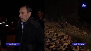 أسامة العدوان مراسلنا ينضم الينا من موقع انهيار الجسر في منطقة البحر الميت