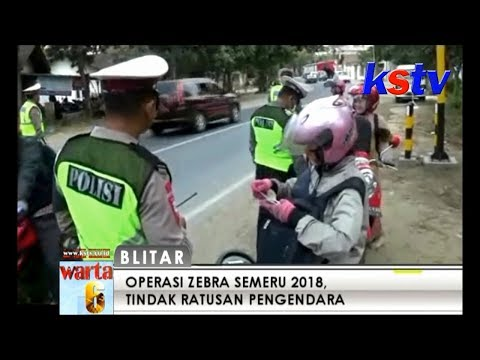BLITAR - OPERASI ZEBRA SEMERU 2018  TINDAK RATUSAN PENGENDARA Mp3