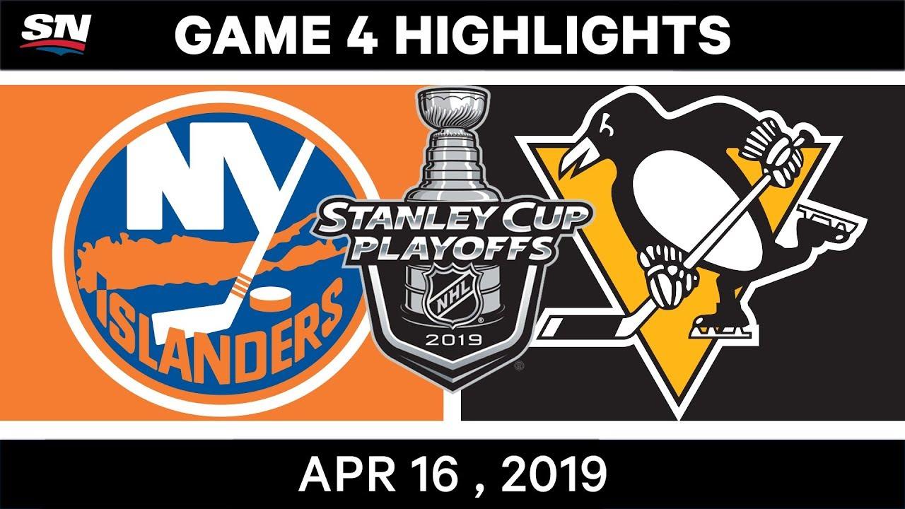 735ab3b92d01a5 NHL Highlights | Islanders vs Penguins, Game 4 – April 16, 2019 ...