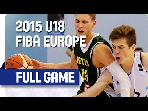 Bosnia and Herzegovina v Lithuania - Group D - Full Game - 2015 U18 European Championship Men