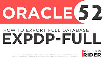 Data Pump expdp (export) and impdp (import) in Oracle