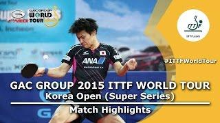 Korea Open 2015 Highlights: JANG Woojin vs YOSHIDA Masaki U21 (1/2)