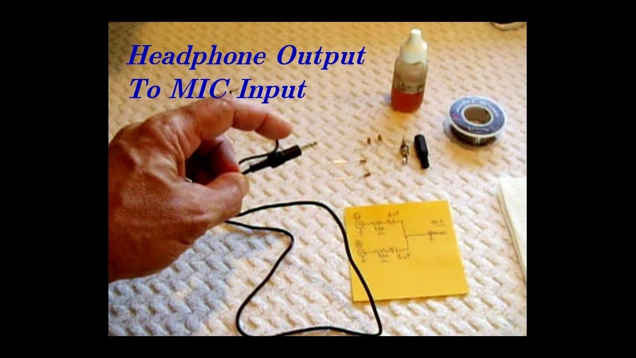 Headphone Output Stereo Mix To Mic Input For Recording Youtube Crossover Speaker Wiring Harness Diagram