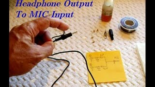 Headphone Output/STEREO MIX To MIC Input For Recording