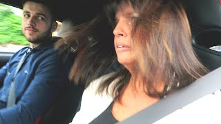 MUM DRIVES MY NISSAN GTR + FUNNY ACCELERATION REACTION!!