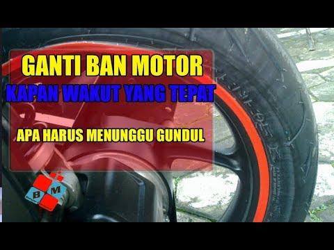 Kapan Waktu Yang Tepat Mengganti Ban Motor, Apa Harus Nunggu Ban Gundul