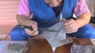 Как починить расширительный бачок на машине.1118 ваз.Клейка пластмассы.