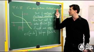Théorème des valeurs intermédiaires - Le rappel de cours - Maths terminale - Les Bons Profs