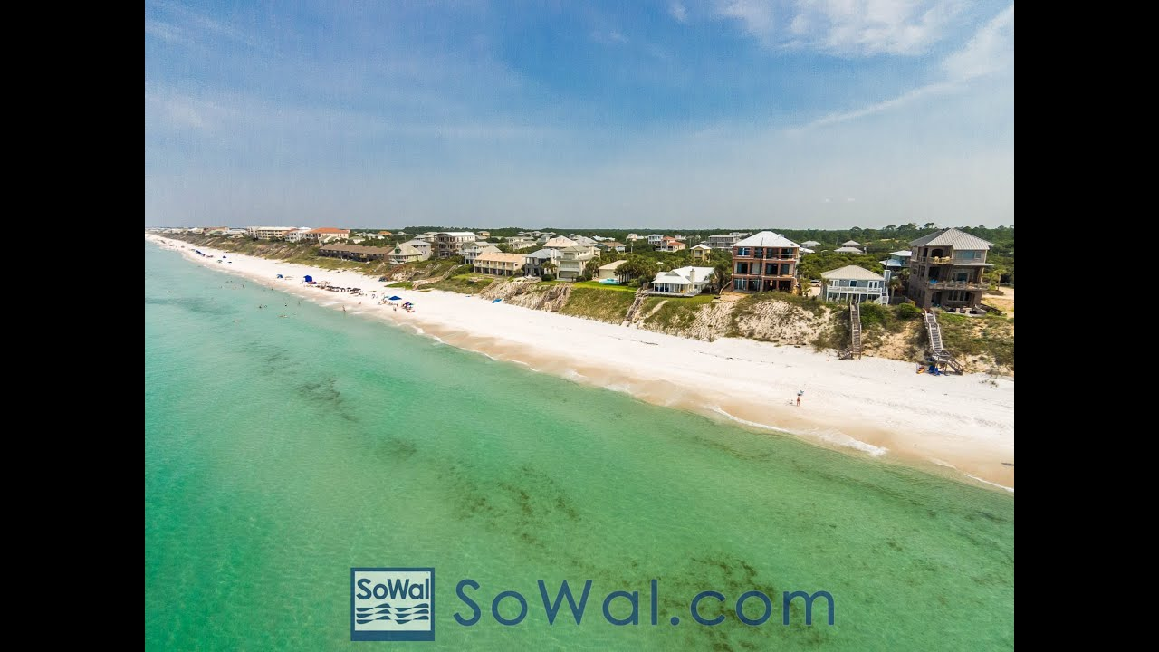 Seacrest Surfline Aerial In South Walton Florida