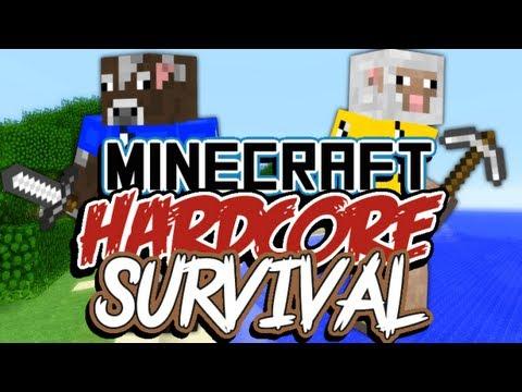 Minecraft Hardcore Survival: Deel 5 - Huisje uit boompjes, beestje.