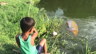 Little By Fishing With Hook Traditional Hook Fishing in Beautiful Natural Рыбалка ВидеоPart-107