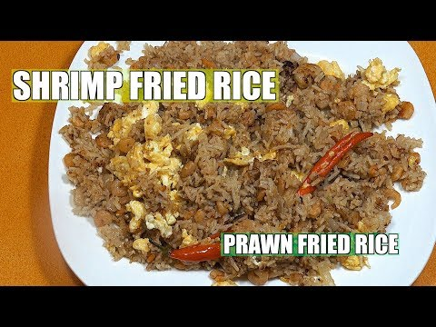 Shrimp Fried rice - How to make Chinese Shrimp Fried Rice - Prawn Fried rice - Easy Fried Rice