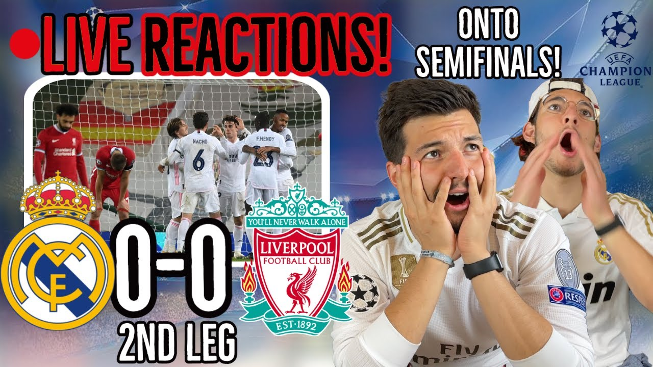 🚨LIVE FAN REACTION to Real Madrid ADVANCING to UCL SEMIFINALS (Liverpool 0-0 Madrid)