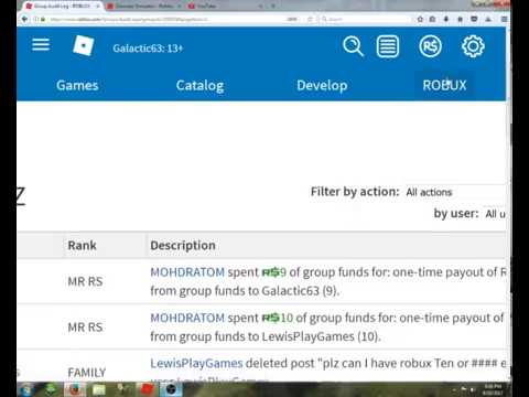 roblox how to give robux with a group