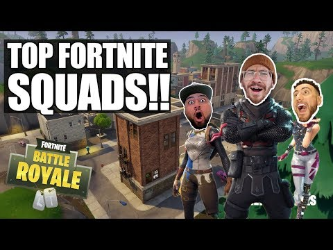TOP FORTNITE SQUADS LEVEL 100 TIER 70!! FORTNITE BATTLE ROYALE WITH TEAM ALBOE!!
