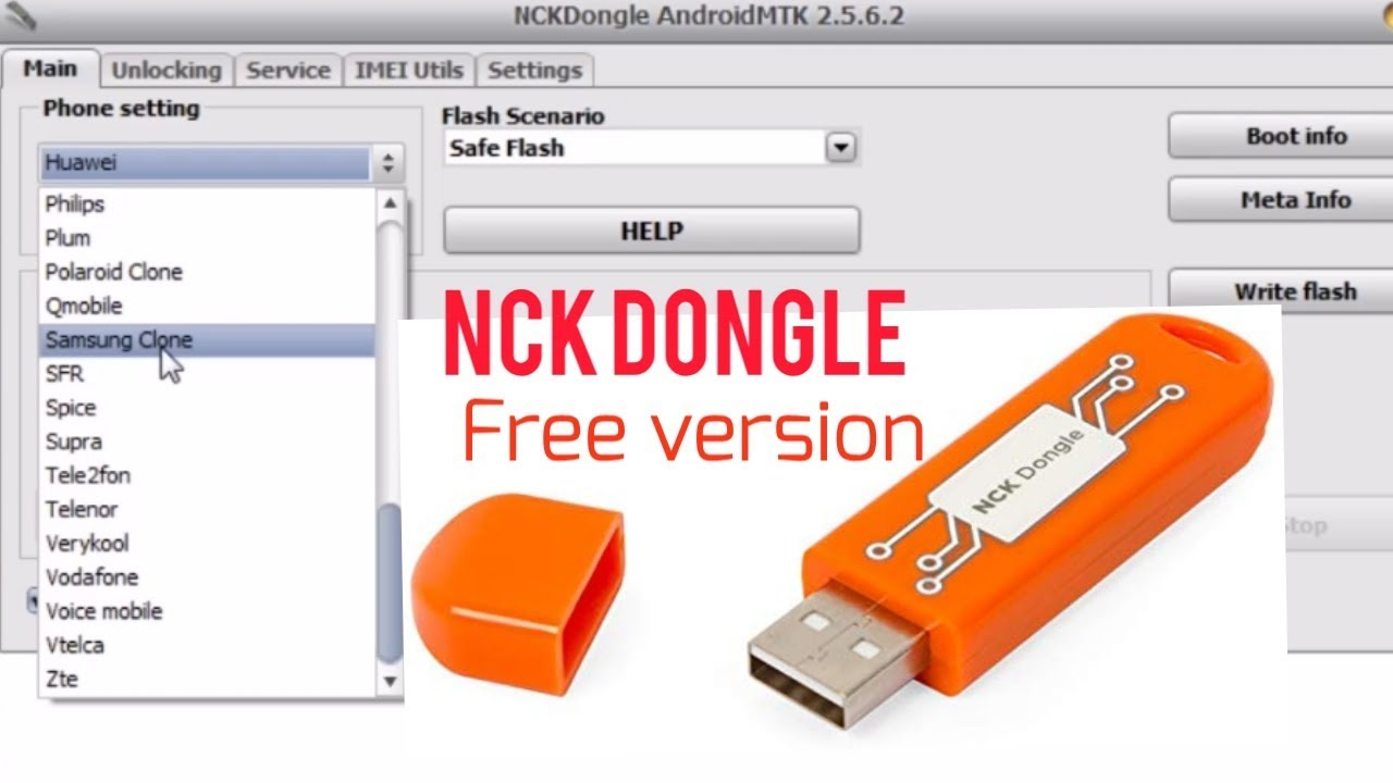 NCK DONGLE FREE - FRP BYPASS IMEI Repair Flashing - YouTube