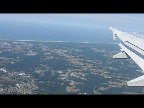 Décollage/Take off Airbus A319 Biarritz Airport/Aéroport (BIQ)