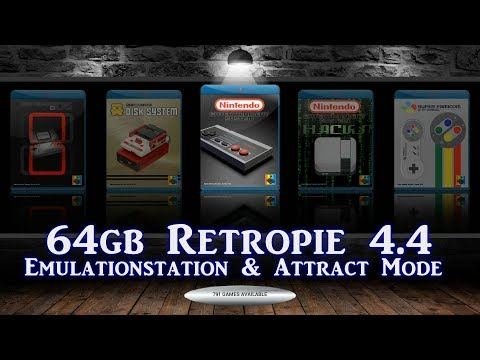 64gb Loaded RetroPie 4.4 w/ Bells & Whistles