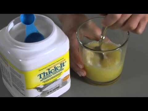 Mixing Thick-It Instant Food and Beverage Thickener (Foodservice)