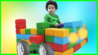 Yusuf'a Legodan Araba Yaptık | Five Little Monkeys Jumping On The Bed Nursery Rhymes Songs