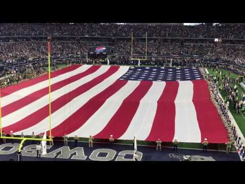 Packers vs Cowboys NFC Divisional Playoff Star Spangled Banner by Freddie Jones