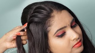 Beautiful hairstyle for wedding functions || Quick & Easy Hairstyle for ladies | hair style girl