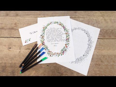 DIY: Printable writing paper template by Søstrene Grene