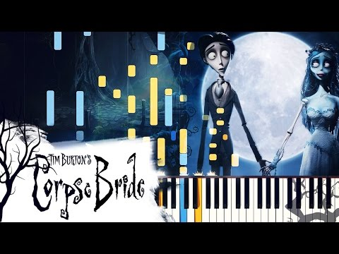 "[PIANO TUTORIAL] ""The Piano Duet"" - Tim Burton's Corpse Bride (Synthesia, Extended Version)"