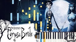 """[PIANO TUTORIAL] """"The Piano Duet"""" - Tim Burton's Corpse Bride (Synthesia, Extended Version)"""