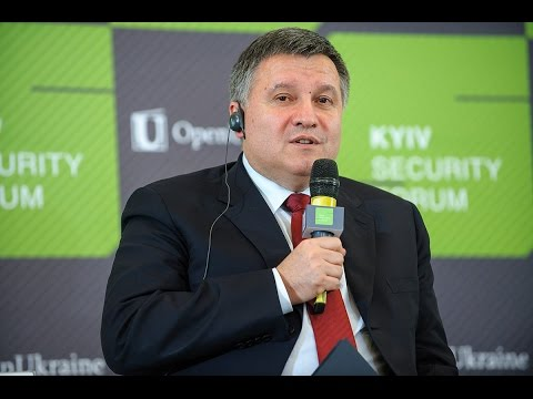 Minister of Internal Affairs of Ukraine Arsen Avakov. 9th Kyiv Security Forum
