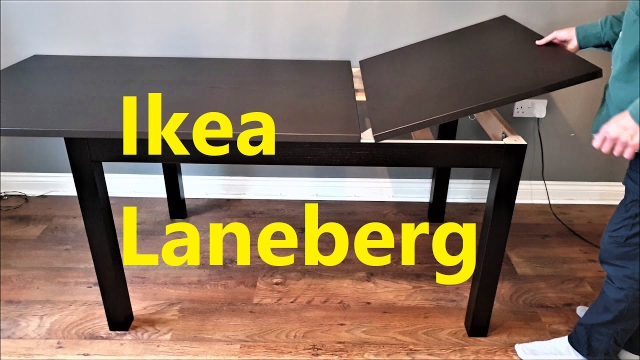 Ikea Laneberg Extendable Table Youtube