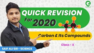 Quick Revision of Carbon & Its Compounds for Board Exams | Class 10 | Saif Ali Sir | Extraclass.